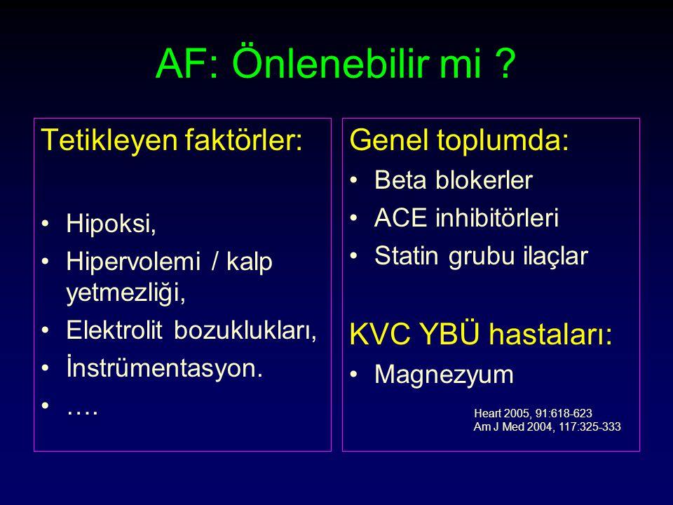 AF: Önlenebilir mi .
