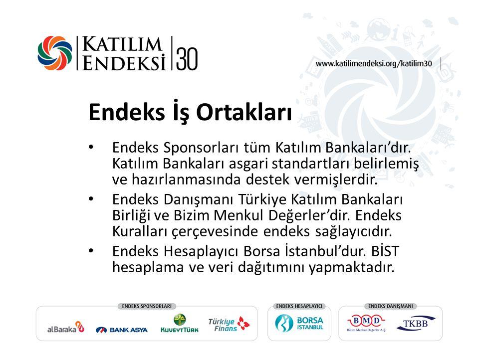 Endeks İş Ortakları Endeks Sponsorları tüm Katılım Bankaları'dır.