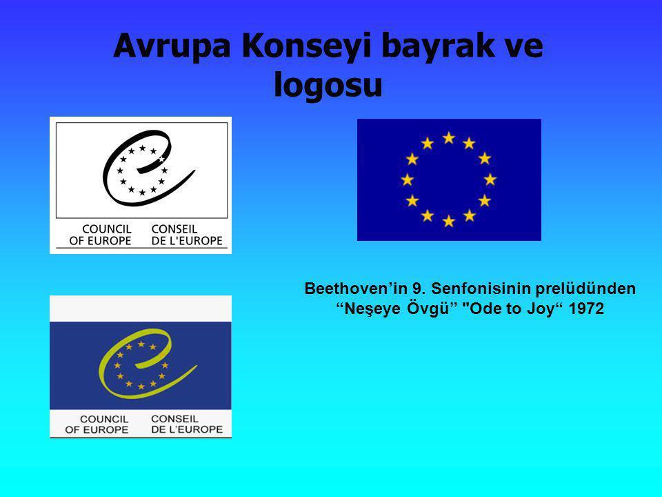 """Avrupa Konseyi bayrak ve logosu Beethoven'in 9. Senfonisinin prelüdünden """"Neşeye Övgü"""""""