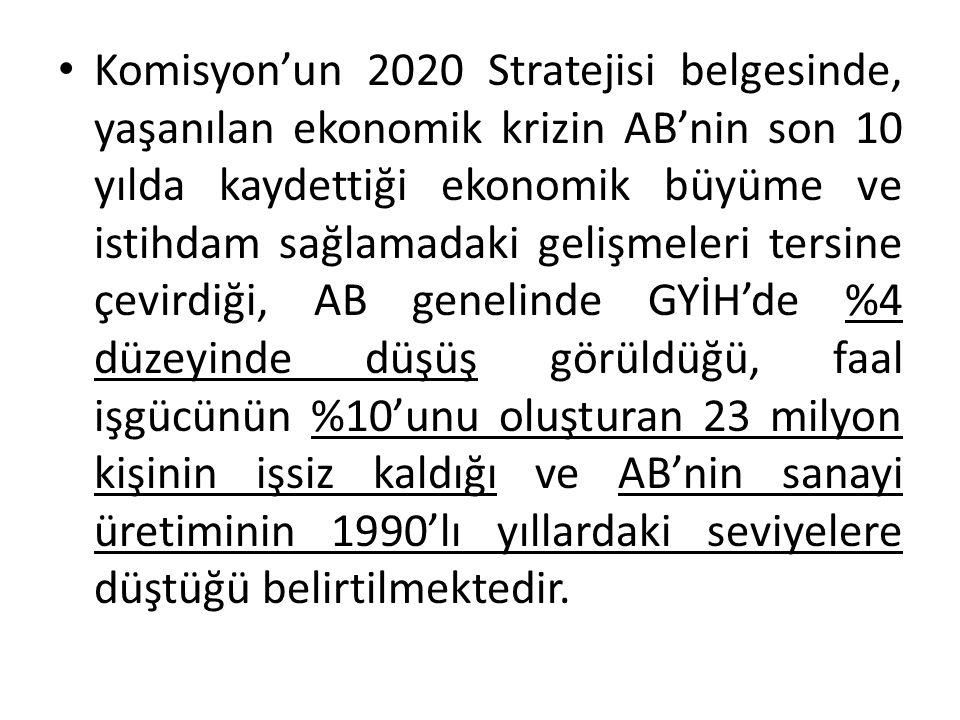 AB 2020'nin kilit itici güçlerinin aşağıdaki önceliklere odaklanmak üzere konulara özgü olması gerektiği kanısındadır: Büyümeyi bilgiye dayandırarak değer yaratma.