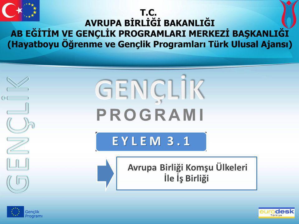 GENÇLİK PROGRAMI İLE İLGİLİ SİTELER  Gençlik Programı (Türk Ulusal Ajansı): http://www.genclik.gov.tr http://www.genclik.gov.tr  Gençlik Programı (Avrupa Komisyonu): http://europa.eu.int/comm/youth/ AB EĞİTİM VE GENÇLİK PROGRAMLARI MERKEZİ BAŞKANLIĞI (ULUSAL AJANS) Mevlana Bulvarı No:181 06520 Balgat/ANKARA  Adres: Mevlana Bulvarı No:181 06520 Balgat/ANKARA  Telefon : 0 312 409 60 00  Faks : 0 312 409 60 98  Eposta : bilgi@ua.gov.tr