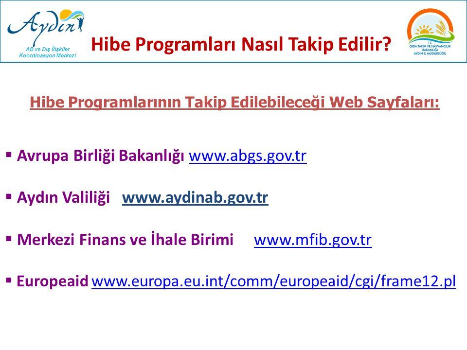 AB ve Dış İlişkiler Koordinasyon Merkezi Hibe Programları Nasıl Takip Edilir?  Avrupa Birliği Bakanlığı www.abgs.gov.trwww.abgs.gov.tr  Aydın Valili