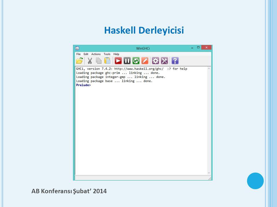 Haskell Derleyicisi AB Konferansı Şubat' 2014