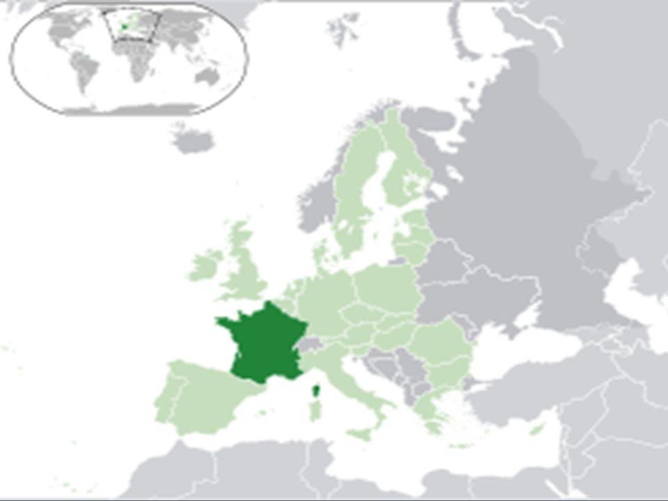 Fransa'nın Sınırları  Kuzeyde Belçika, güneyde Akdeniz, doğuda İsviçre ve İtalya, kuzeydoğuda Lüksemburg ve Almanya, batısında Atlas Okyanusu, Kuzeybatıda Manş denizi, güneybatıda İspanya ile çevrilidir.