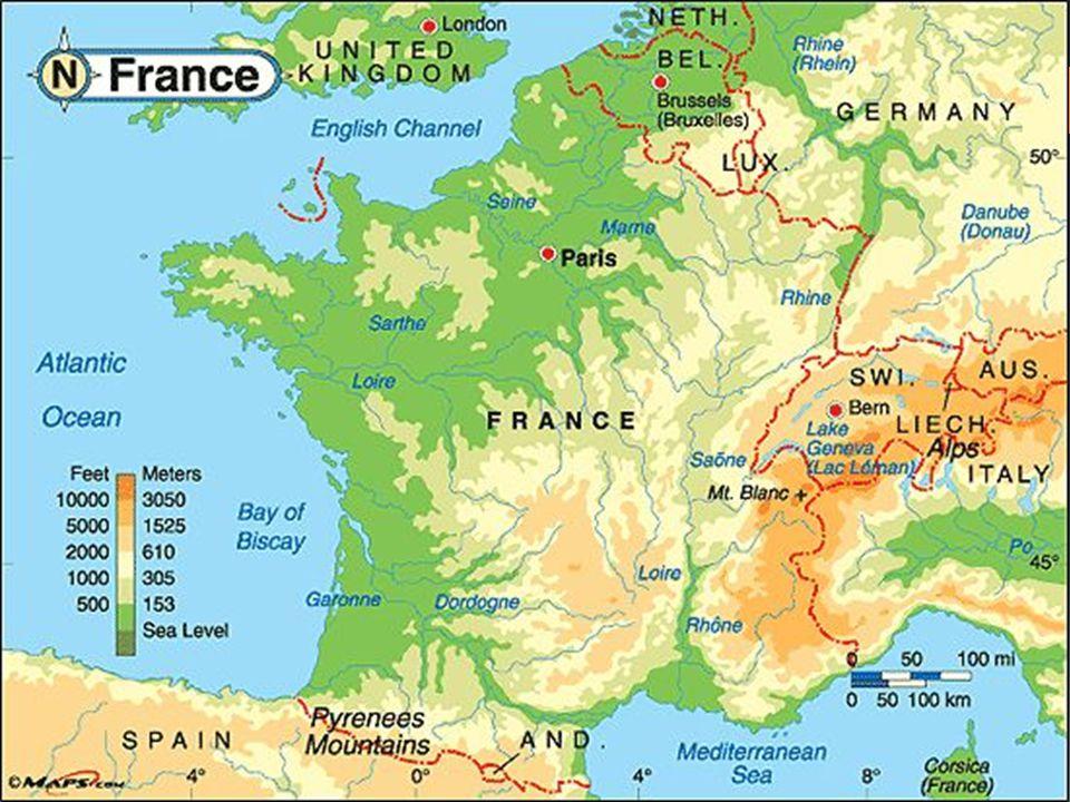  Fransa'nın yüzölçümü 543 695km²' dir.