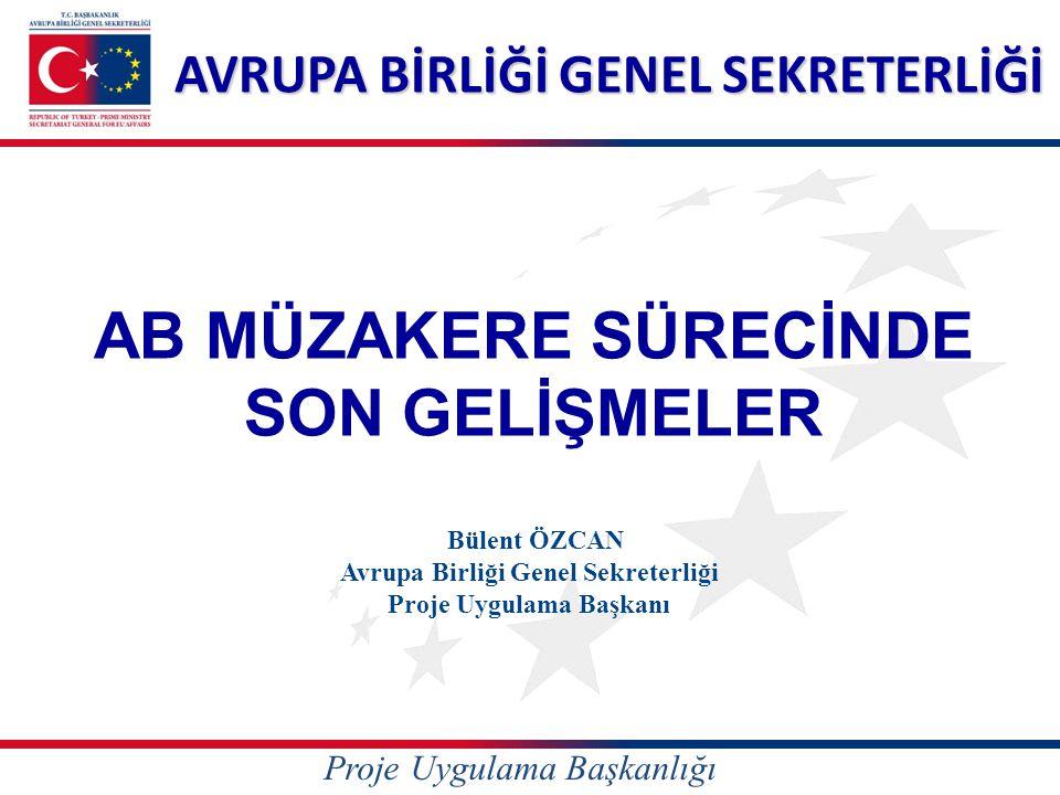 Sunum İçeriği I.AB Müzakere Sürecinde Son Durum II.Türkiye'de AB Mali Yardımları Nasıl Kullanılır.