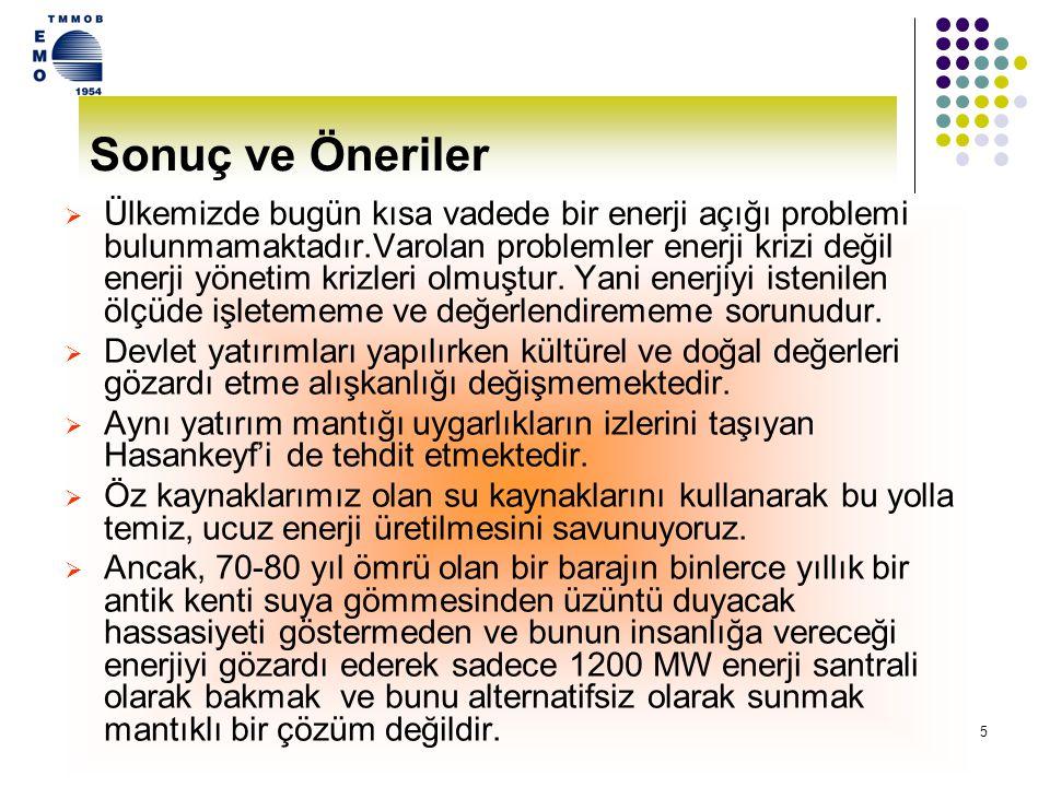 14 GAP VE ILISU  G.A Bölgesi enerji üretim kaynakları (Özellikle Hidroelektrik santraller) açısından zengin, enerji tüketicisi açısından ise Türkiye'nin en ciddi problemlerinin yaşandığı bölgedir.