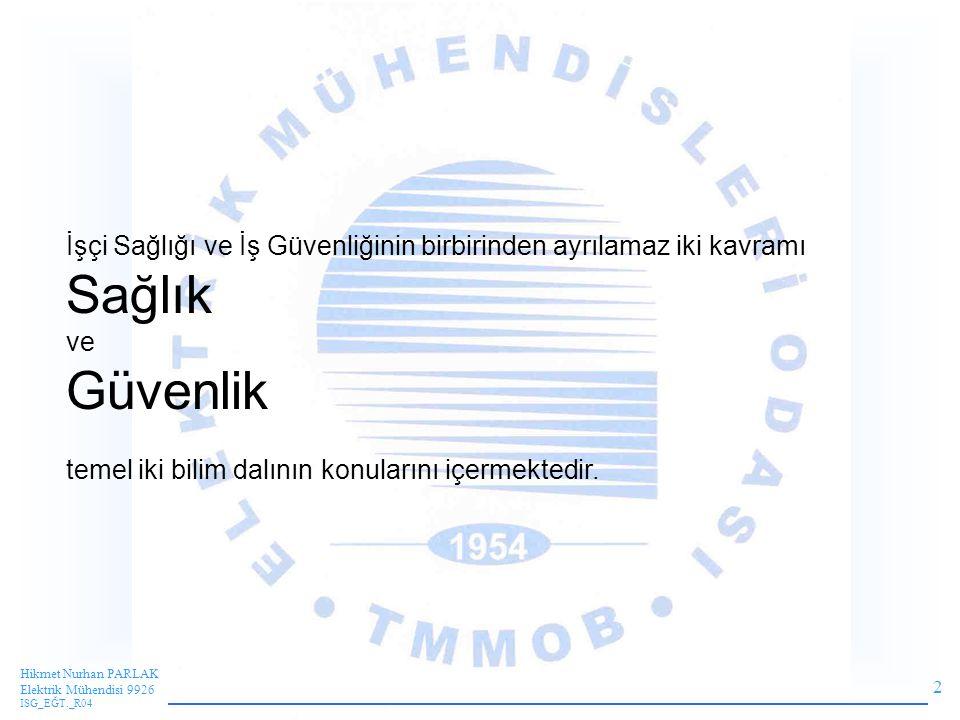 43 Hikmet Nurhan PARLAK Elektrik Mühendisi 9926 ISG_EĞT._R04 Konu iki yönden alınmalıdır.