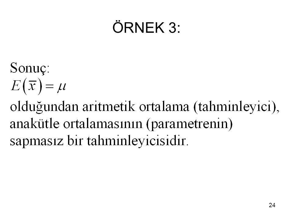 24 ÖRNEK 3: