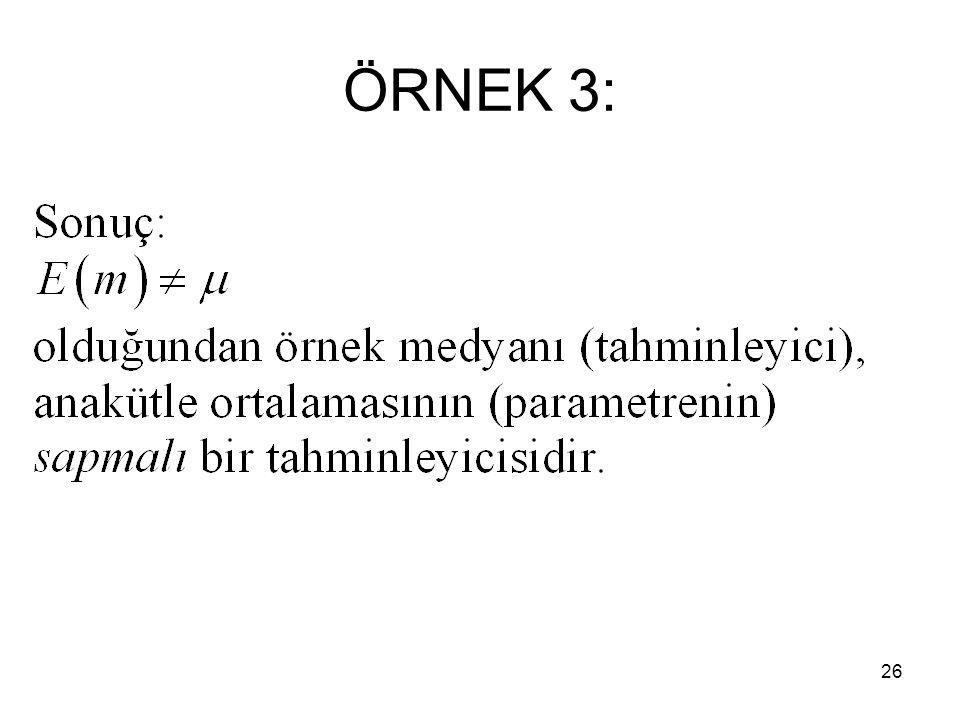 26 ÖRNEK 3: