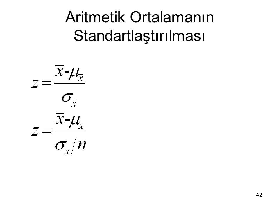42 Aritmetik Ortalamanın Standartlaştırılması