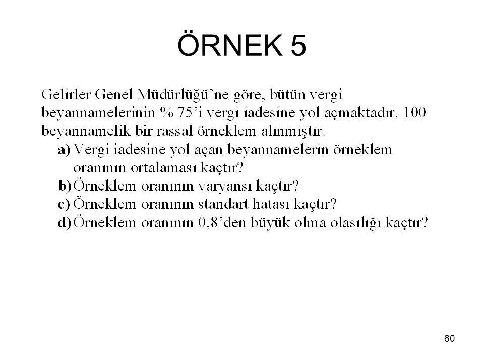 60 ÖRNEK 5