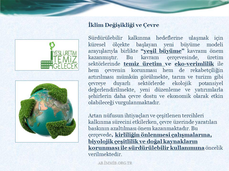 AB.İMMİB.ORG.TR Küresel Enerji Sisteminde Dönüşüm Enerji üretimi ve tüketiminde küresel ekonomik ve jeostratejik dengelerin yeniden tanımlanmasına sebep olabilecek önemli değişiklikler yaşanmaktadır.