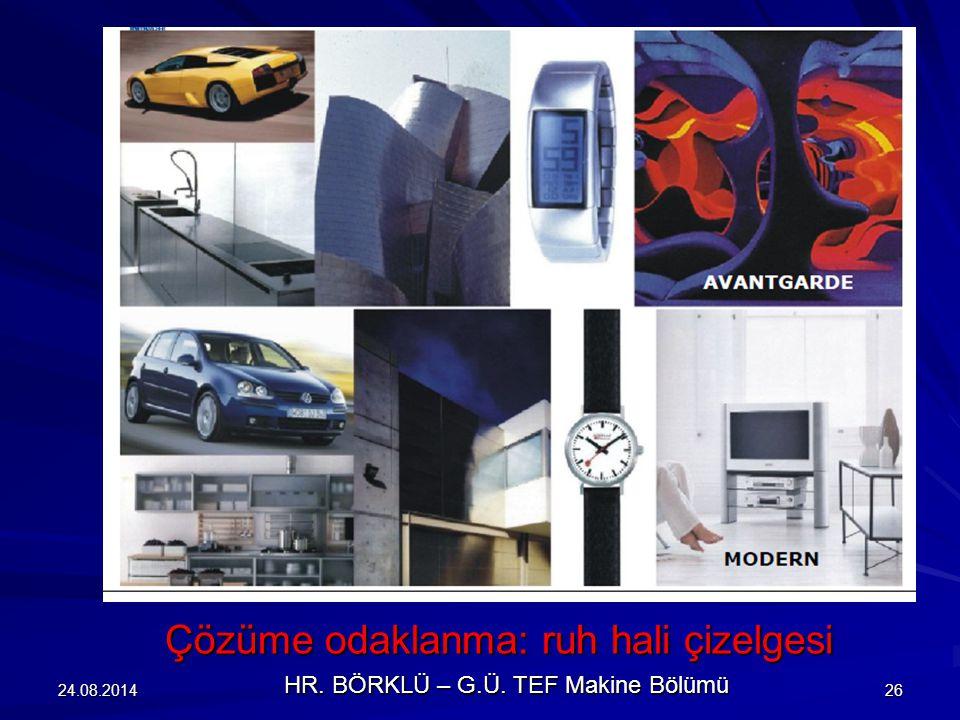 24.08.201426 Çözüme odaklanma: ruh hali çizelgesi HR. BÖRKLÜ – G.Ü. TEF Makine Bölümü