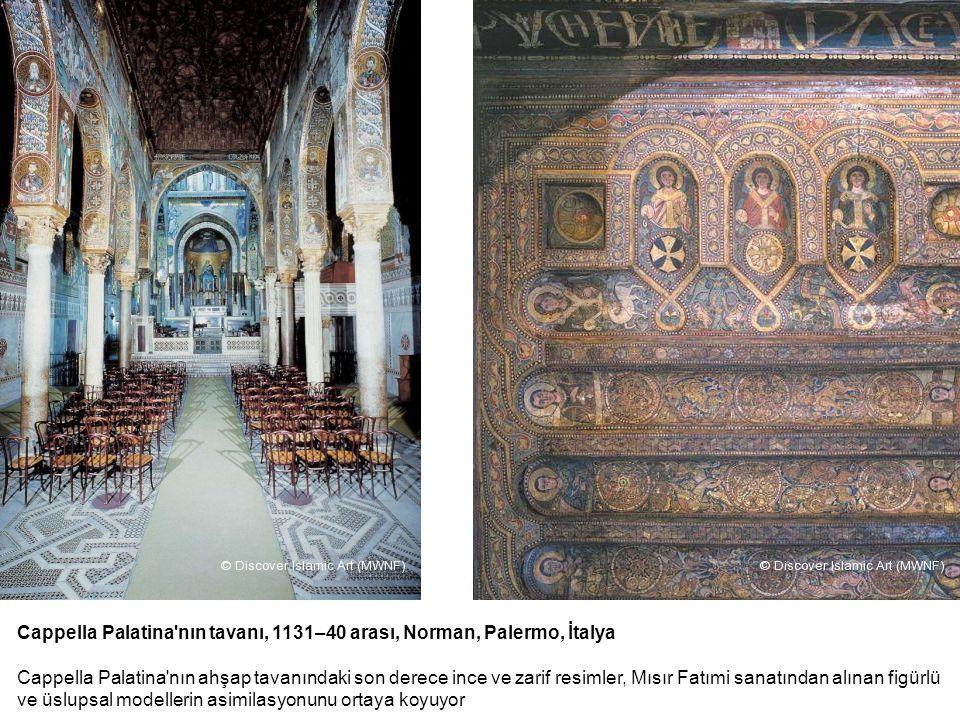 Cappella Palatina'nın tavanı, 1131–40 arası, Norman, Palermo, İtalya Cappella Palatina'nın ahşap tavanındaki son derece ince ve zarif resimler, Mısır