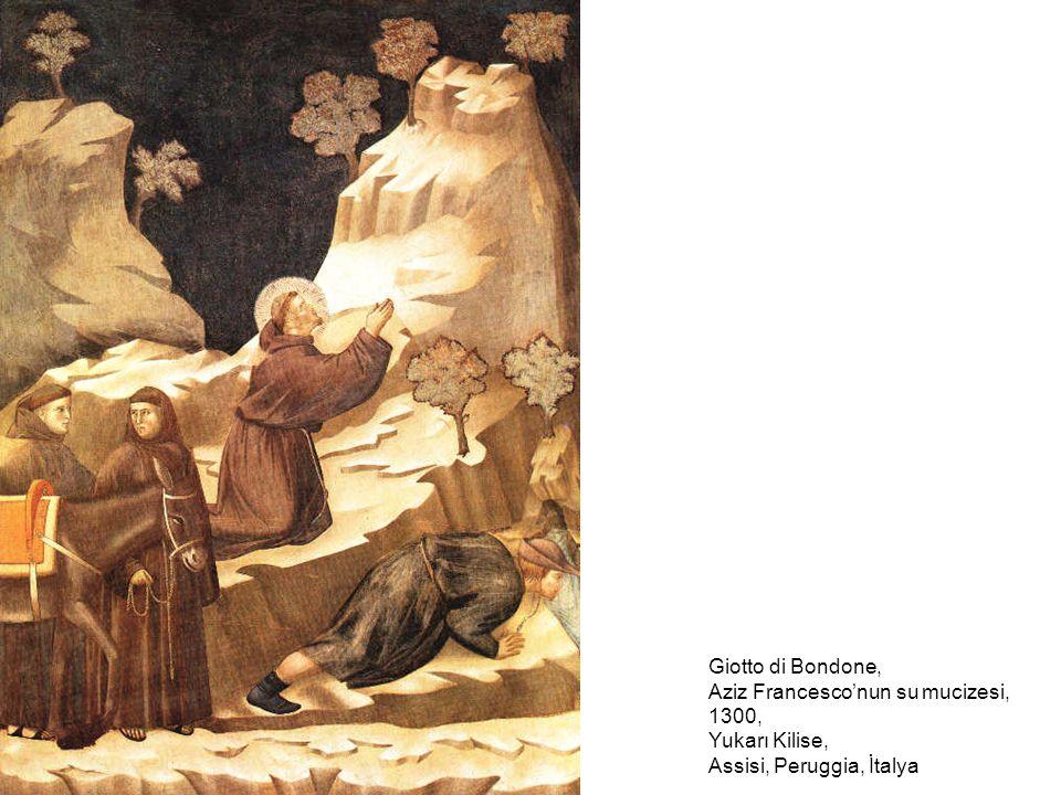 Giotto di Bondone, Aziz Francesco'nun su mucizesi, 1300, Yukarı Kilise, Assisi, Peruggia, İtalya