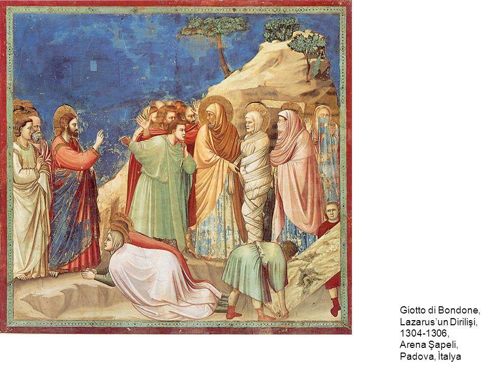 Giotto di Bondone, Lazarus'un Dirilişi, 1304-1306, Arena Şapeli, Padova, İtalya