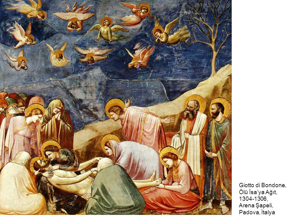 Giotto di Bondone, Ölü İsa'ya Ağıt, 1304-1306, Arena Şapeli, Padova, İtalya