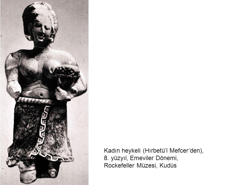 Kadın heykeli (Hırbetü'l Mefcer'den), 8. yüzyıl, Emeviler Dönemi, Rockefeller Müzesi, Kudüs