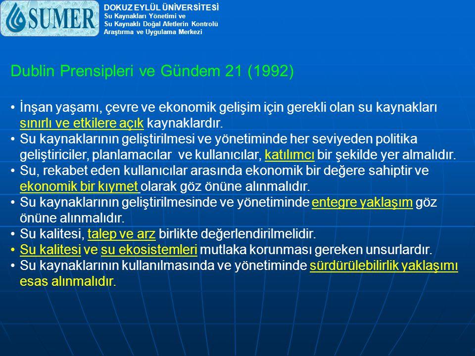 Su kaynakları yönetiminin temel boyutları.