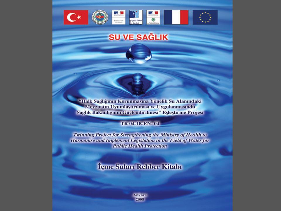 Bu projede……… Proje süresinde Fransız uzmanlar Türk uzmanlar ile birlikte; Avrupa Birliği müktesebatı doğrultusunda ulusal mevzuat taslağının hazırlanması, stratejilerin geliştirilmesi, Avrupa Birliğinin eski (76/160/EEC) ve yeni (2006/7/EC) Yüzme Suları Direktifi, İçme Suları Direktifi(98/83/EC) ve Mineralli Sular Direktifi (80/777/EEC) çerçevesinde öngörmekte olduğu gerekliliklere uyulmasını sağlayıcı faaliyetler, yönetmelik, rapor, rehber kitap ve el kitapçıklarının hazırlanması alanlarında çalışmışlardır