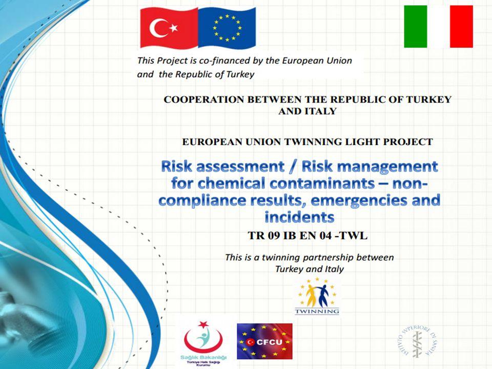 Bu projede……… Avrupa Birliğine Entegrasyon Sürecini Destekleme Faaliyetleri SEI-2009 programlaması kapsamında Halk Sağlığının Korunması için İçme Sularında Acil Durum Yönetimi ve Risk Analizi TR 09 IB EN 04 –TWL Kısa süreli eşleştirme projesi ile içme suyu alanında risk değerlendirmesinin, erken uyarı ve acil durum yönetiminin AB içme suyu mevzuatı (98/83/EC) ile aynı doğrultuda gerçekleştirilmesi için Türkiye Halk Sağlığı Kurumunun güçlendirilmesi amaçlanmıştır