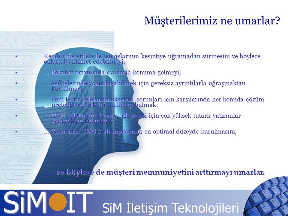 SiM SiM IT SiM İletişim Teknolojileri Kendi müşterileri ile temaslarının kesintiye uğramadan sürmesini ve böylece onlara iyi hizmet edebilmeyi; Kendi