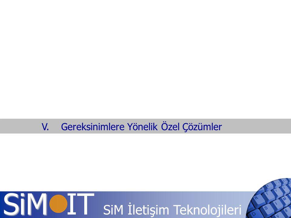 SiM SiM IT SiM İletişim Teknolojileri V. Gereksinimlere Yönelik Özel Çözümler