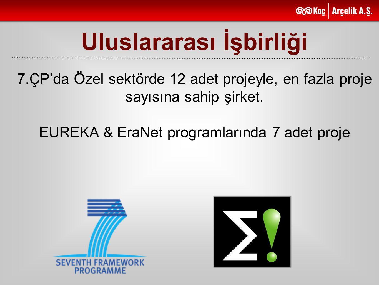 Uluslararası İşbirliği 7.ÇP'da Özel sektörde 12 adet projeyle, en fazla proje sayısına sahip şirket. EUREKA & EraNet programlarında 7 adet proje