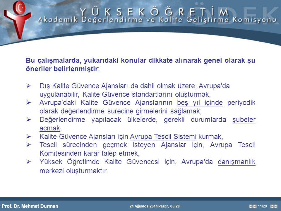 Prof. Dr. Mehmet Durman 24 Ağustos 2014 Pazar, 05:28 11/20 Bu çalışmalarda, yukarıdaki konular dikkate alınarak genel olarak şu öneriler belirlenmişti