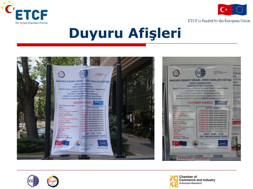ETCF is funded by the European Union Duyuru Afişleri