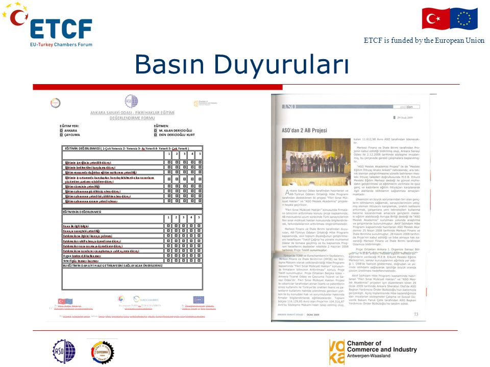 ETCF is funded by the European Union Basın Duyuruları