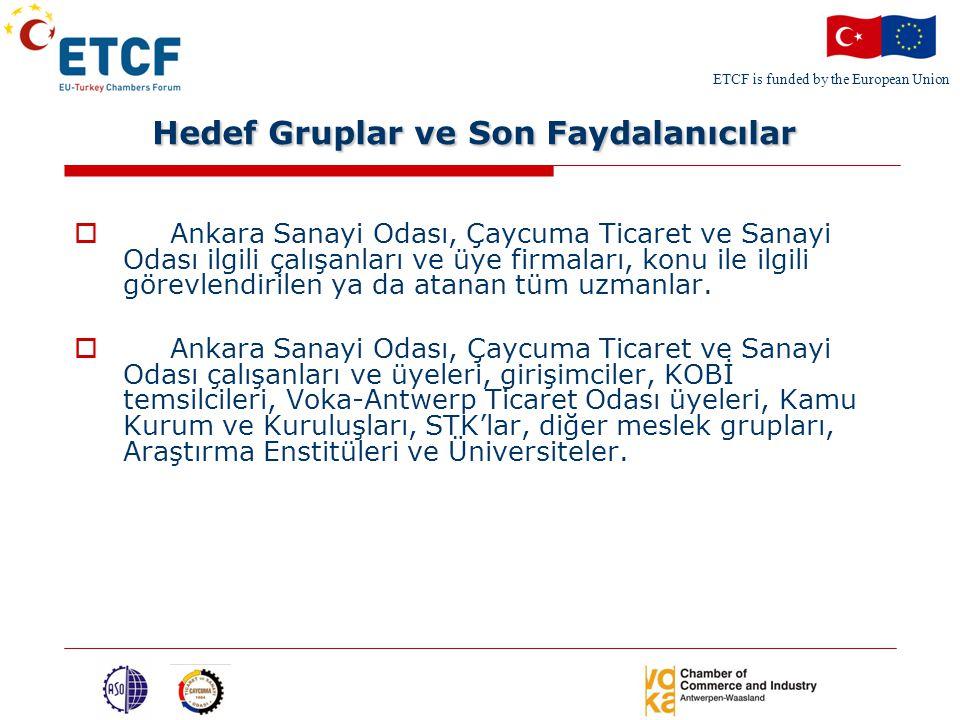 ETCF is funded by the European Union Temel Aktiviteler  Faaliyet 1: Açılış toplantısı ve Türk işletmeciler arasında Fikri ve Sınai Mülkiyet Hakları hakkında İhtiyaçların Belirlenmesine Yönelik Anket Hazırlanması  İstanbulda ki Proje Açılış toplantısı, tüm proje ortaklarının katılımı ile gerçekleştirilmiştir.