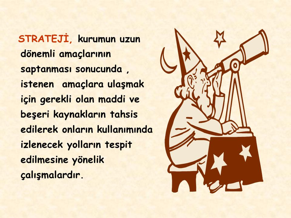 KURUM STRATEJİSİNE SAHİP OLUNMASININ FAYDALARI 1.