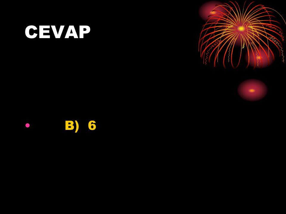 CEVAP B) 6