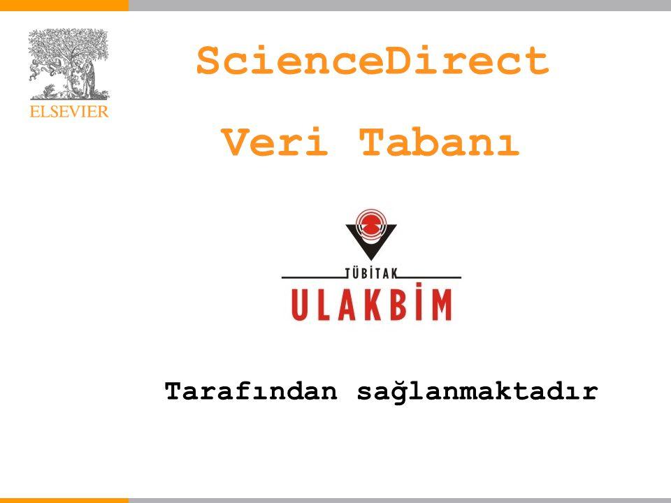 Tarafından sağlanmaktadır ScienceDirect Veri Tabanı