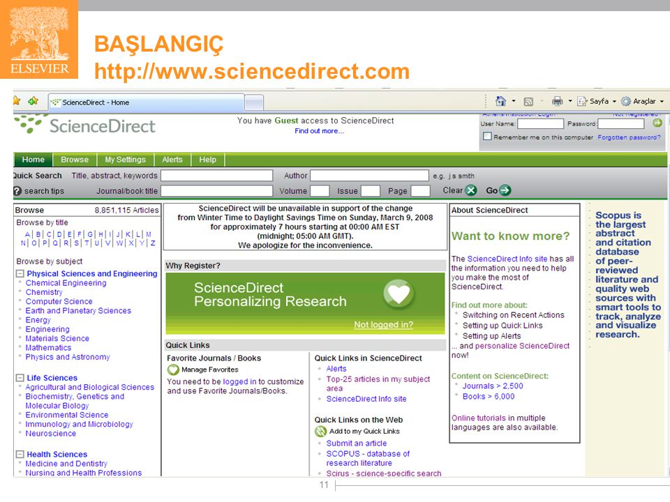 11 BAŞLANGIÇ http://www.sciencedirect.com