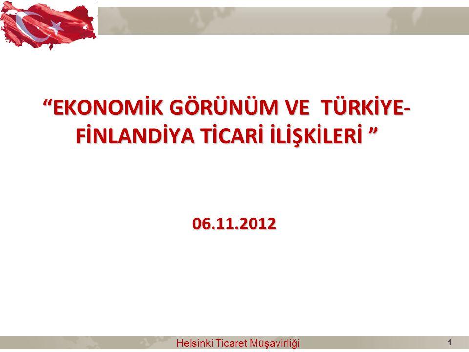 Avrupa'nın En Büyük Ekonomileri Helsinki Ticaret Müşavirliği Helsinki Ticaret Müşavirliği 2011 yılında Türkiye Avrupa'nın 6.
