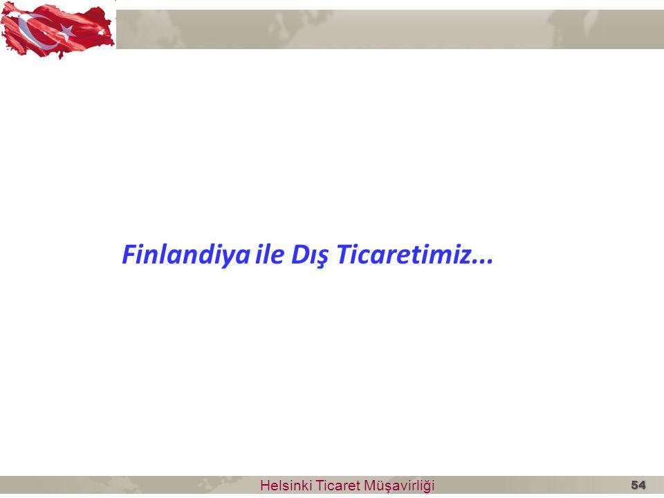 Helsinki Ticaret Müşavirliği Helsinki Ticaret Müşavirliği Finlandiya ile Dış Ticaretimiz... 54