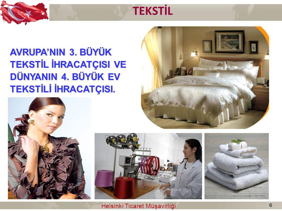 ÇORAP ÇORAP TÜRKİYE ÇORAP ÜRETİMİNDE DÜNYA 2.CİSİ Helsinki Ticaret Müşavirliği Helsinki Ticaret Müşavirliği 7