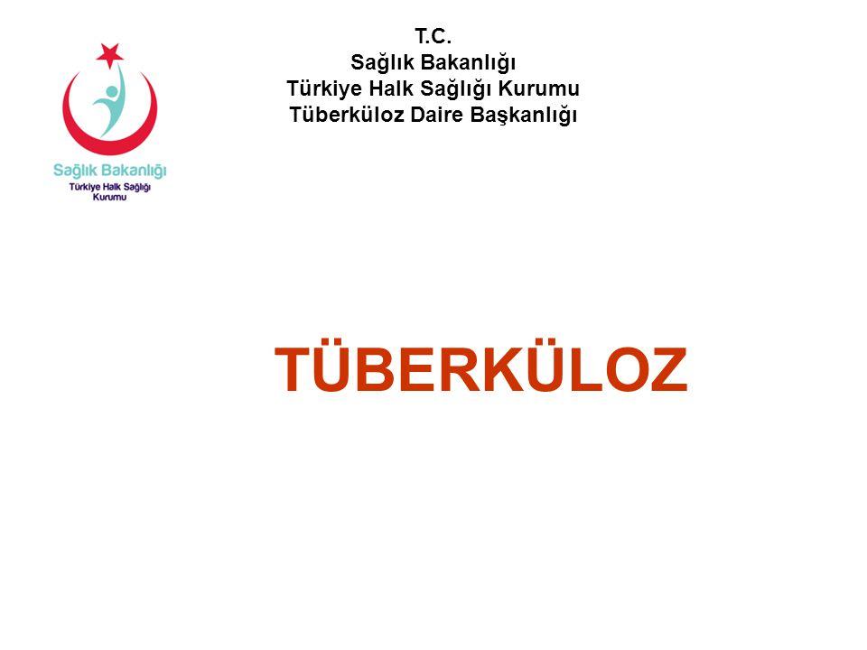 TÜBERKÜLOZ T.C. Sağlık Bakanlığı Türkiye Halk Sağlığı Kurumu Tüberküloz Daire Başkanlığı