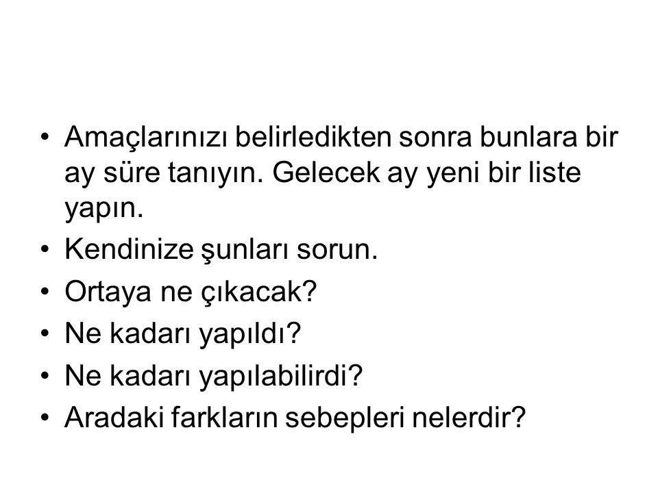 NASIL TEKRAR ETMELİSİNİZ .