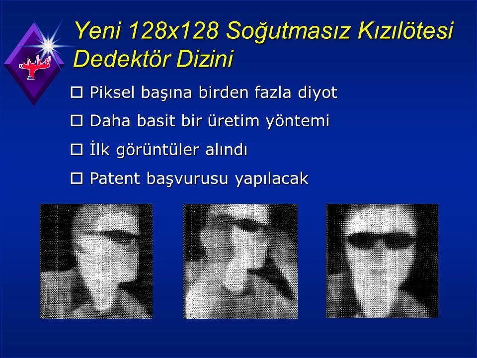 Yeni 128x128 Soğutmasız Kızılötesi Dedektör Dizini  Piksel başına birden fazla diyot  Daha basit bir üretim yöntemi  İlk görüntüler alındı  Patent başvurusu yapılacak