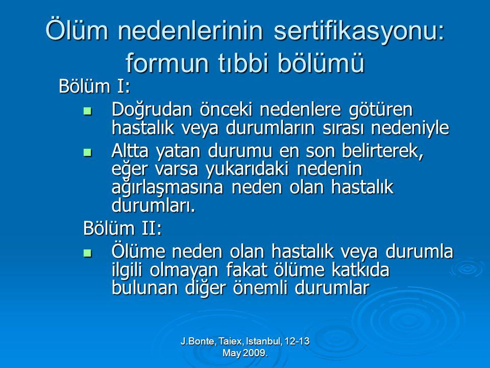 J.Bonte, Taiex, Istanbul, 12-13 May 2009.