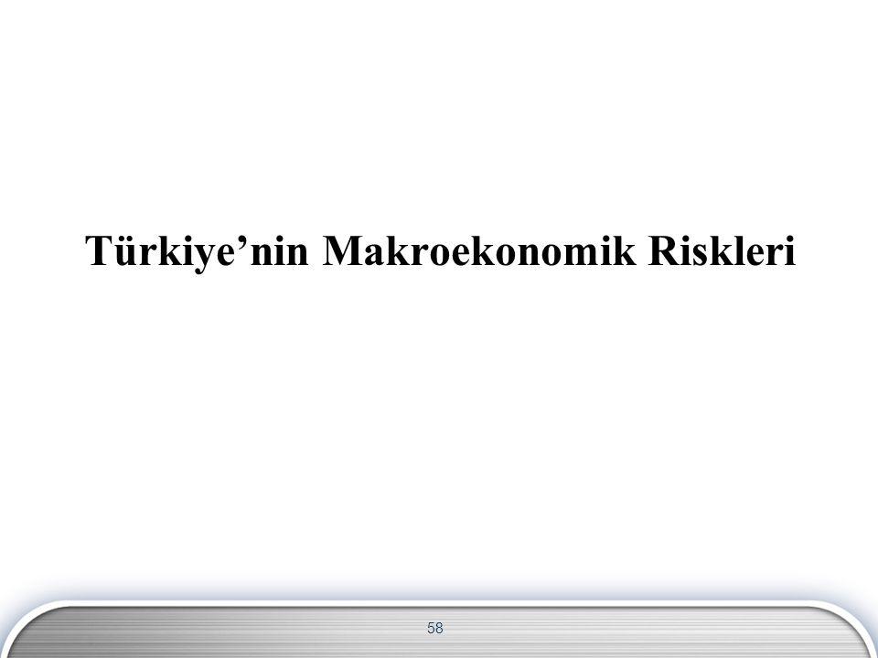 58 Türkiye'nin Makroekonomik Riskleri