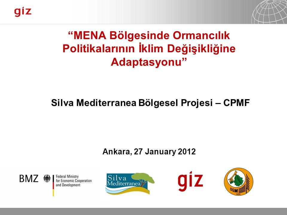 25.01.12 Seite 1 Page 1 25.01.12 Seite 1 MENA Bölgesinde Ormancılık Politikalarının İklim Değişikliğine Adaptasyonu Silva Mediterranea Bölgesel Projesi – CPMF Ankara, 27 January 2012