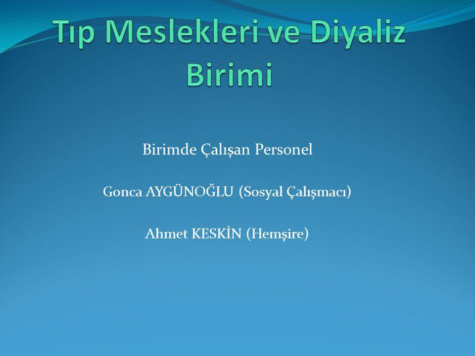 Birimde Çalışan Personel Gonca AYGÜNOĞLU (Sosyal Çalışmacı) Ahmet KESKİN (Hemşire)