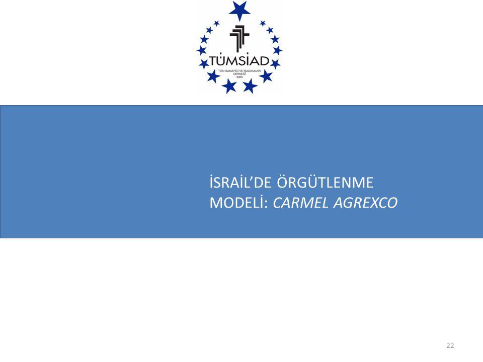 İSRAİL'DE ÖRGÜTLENME MODELİ: CARMEL AGREXCO 22