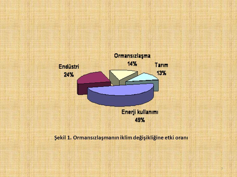 Şekil 1. Ormansızlaşmanın iklim değişikliğine etki oranı 7