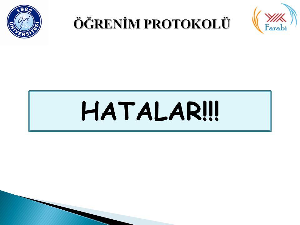 HATALAR!!!
